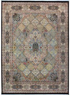 "Multi-colored Oriental Bakhtiar Rug 10' 3"" x 14' 3"" (ft) - No. 10548  http://alrug.com/multi-colored-oriental-bakhtiar-rug-10-3-x-14-3-ft-no-10548.html"