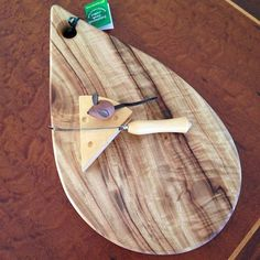 Specially selected figured timber for the Teardrop Cheese Board http://www.australianwoodwork.com.au/products/teardrop-cheese-board #cheeseboard #wooden #presentation