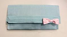 Handmade emerald plaid baby blue envelope Purse with baby pink bow! Blue Envelopes, Baby Blue, Emerald, Bows, Plaid, Purses, Pink, Handmade, Arches