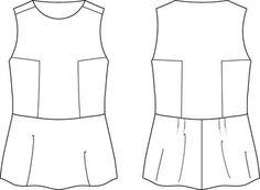 Teach me Fashion: free two-tone singlet pattern
