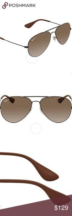 Classic Metal Aviator Premium Shades Brown Gold Men/'s Designer Sunglasses New