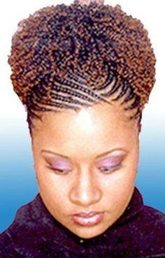 Cornrows and curls Cornrows Updo, Ghana Braids Hairstyles, African Hairstyles, Braided Hairstyles, Ghana Braids Updo, Half Cornrows, Flat Twist Hairstyles, Sisterlocks, Braided Updo
