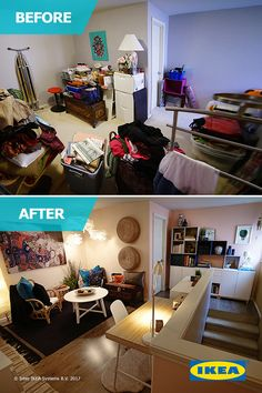 From cluttered and chaotic to organized and inspiring - The IKEA Home Tour Squad helps this aspiring author de-clutter her loft space to make room for the things she loves.