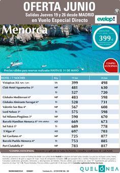 Oferta Junio Menorca desde 399€ Tax incl. salidas Jueves 19 y 29 desde MAD ultimo minuto - http://zocotours.com/oferta-junio-menorca-desde-399e-tax-incl-salidas-jueves-19-y-29-desde-mad-ultimo-minuto/