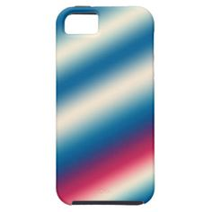 Blue White Stripes |: add text or image iPhone 5 Covers