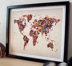 butterflies map of the world art print by artpause | notonthehighstreet.com
