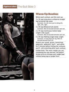 Fighter Diet Butt Bible Vol. 3 by Pauline Nordin