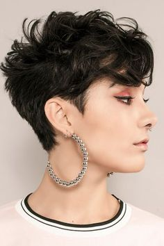 Love this bad girl version of a curly cut
