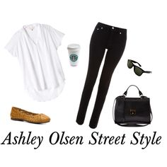 """Ashley Olsen Street Style"" by kelseydesigns on Polyvore"