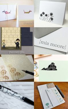 The Art of Letter Writing- Handmade stationery sets, note cards, pens, labels, and other letter writing essentials.