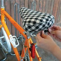 YESSTYLE United Kingdom: iswas- Gingham Bike Seat Cover - Free Express Shipping to the UK on orders over