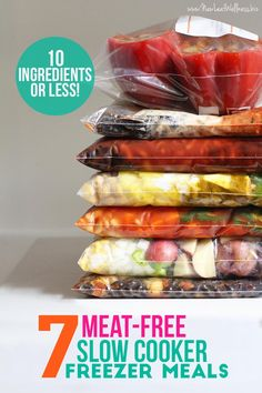 7 Meat-Free Slow Cooker Freezer Meals