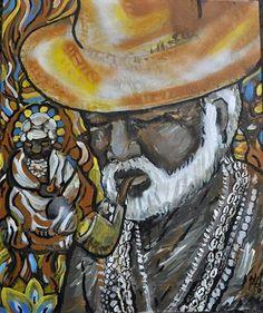 "Marcio Heider no Instagram: ""Preto velho #marcioheider#umbanda#africa#pretovelho#pintura#paint#africabrasil"""