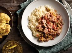 Thursday - Smothered Pork with Gouda Grits Publix Aprons