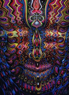 Alex Grey.  creative psychedelic art