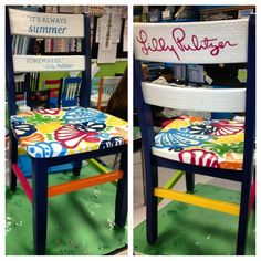 Image result for chalk paint childs rocking chair lilly pulitzer