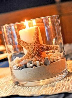 You can't think of a tropical vacation without the beach. Bring the beach into your wedding decor by using sand. You could fill small vases with sand and top them with votive candles, seashells or flowers. If you're not too keen on the sand you find right on the beach, craft stores also sell cleaner versions. They even come in different colors. | Don't Forget the Sandy Beach | 5 Ways to Decorate a Tropical Chic Wedding | My Wedding Favors