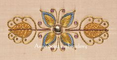 Gold work embroidery | Goldwork Panel Embroidery kit by AnnaScottEmbroidery on Etsy