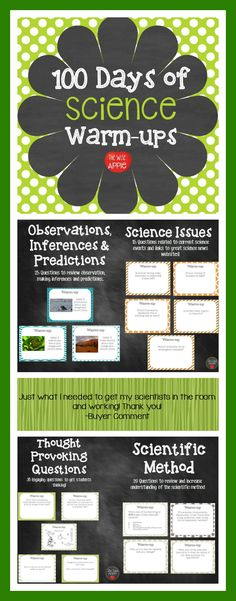 100 Days of General Science Warm-ups, Journal, Bell Work - David Teague Science Room, Science Classroom, Teaching Science, Science Education, Earth Science, Life Science, Physical Science, Science Inquiry, Mad Science