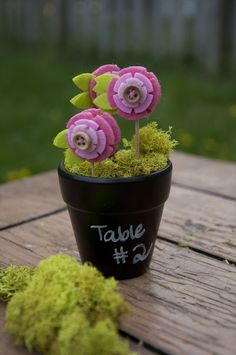 #DIY Chalkboard Flower Pot #Favors