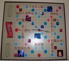 Scrabble clock!