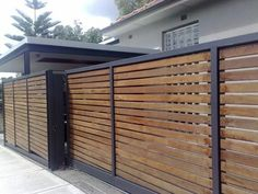 Driveway Fence, Front Yard Fence, Farm Fence, Fence Landscaping, Backyard Fences, Fence Gate, Garden Fencing, Front Yards, Pipe Fence