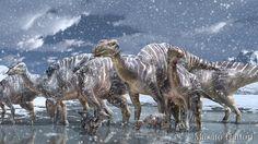 Hadrosaurus_Hadrosauridae in Alaska