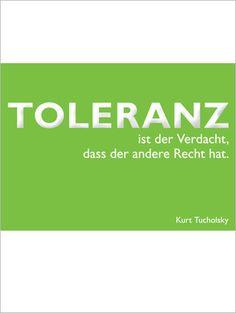 Postkarte Tucholsky, Toleranz