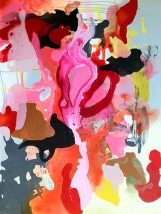 belle maison: It's All About Color in 2012 - Love this painting - totally out of character for me...what's happening????