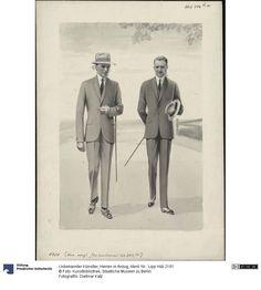 Herren in Anzug, 1920