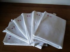 Vintage French Linen 6  very large old French by WhiteLinenplus, €72.00