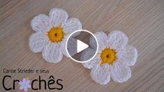 Veja nesse vídeo a artesã Carine Maria Strieder ensinando passo a passo como fazer essa delicada margaridinha de crochê, perfeita para usar como aplique em caminhos de mesa e tapetes. Mais informações no blog: http://carinestrieder.blogspot.com.br/ o