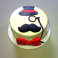 Father's Day Mustache Cake
