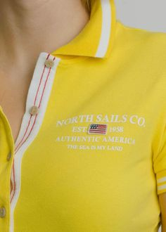 #NorthSails #collection #Spring #Summer #2014 #SS2014 #Woman #tshirt #polo #yellow #bottons  #collezione #donna #primavera #estate #polo #bottoni