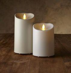 "Luminara® Flameless Candle - 3.75"" Diameter Outdoor Pillar - Ivory Unscented"