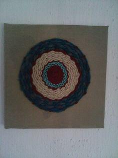 Mandala tejido a telar
