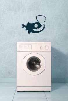 Angler Fish   Vinyl Wall Art Decal by VinylWallAdornments on Etsy, $22.00