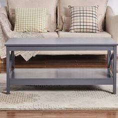 Beachcrest Home Wilder Coffee Table with Storage Color: Gray Stone Coffee Table, Coffee And End Tables, Coffee Table With Storage, Living Room Furniture, Home Furniture, Living Room Decor, Vintage Furniture, Breakfast Nook Dining Set, Kitchen Dining Sets