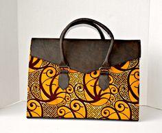 Africain tissu main sac Ankara Design Design par ZabbaDesigns