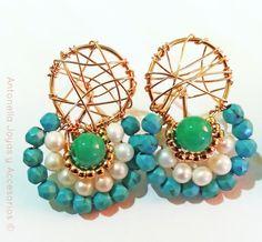 Código zar-00023 Zarcillos frida con atrapa sueños #earrings -Disponible en diferentes colores-