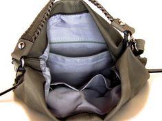 vegan leather handbag purse gray   the Katellig big  by TRACCEbags, $81.75