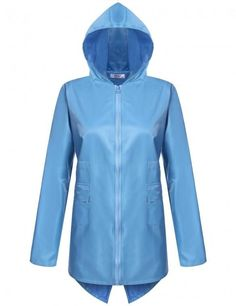 859db488985 Comfortable Womens Waterproof Hooded Zip Up Waist Waterproof Active Rain  Jacket Coat