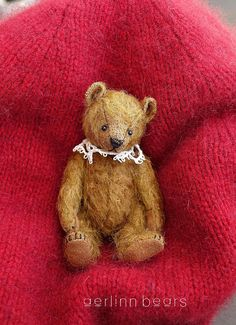 "Florentino Miniature 4"" Mohair Artist Teddy Bear from Aerlinn Bears"