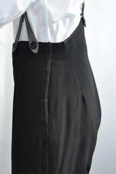 Men's Edwardian Fishtail Back Evening Trousers 32 Men's Authentic Antique 1900s