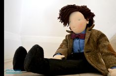Dr. Who waldorf doll: Pinning this because it's a doll even my husband would appreciate!