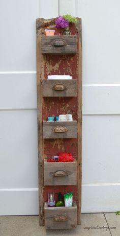 DIY Barn Wood Wall Bin