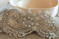 Bridal sash - Malta (17 inches) from MillieIcaro