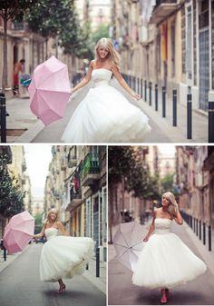 Vestido de Novia Vintage y Chic - para novias poco convencionales: Novias con vestido corto - Getmarried