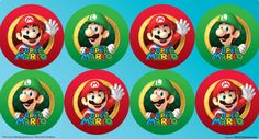Super Mario Party Large Lollipop Sticker Sheet, 89420