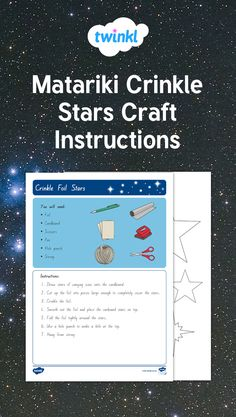 Use easy-to-find materials such as cardboard and foil to make an effective star mobile or display. Use to connect with the theme of Matariki. The Pleiades, Star Mobile, Stars Craft, Dramatic Play, Early Childhood Education, Hole Punch, Crinkles, Learning, How To Make